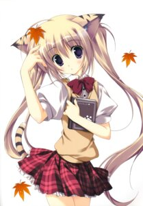 Rating: Questionable Score: 45 Tags: animal_ears korie_riko nekomimi seifuku tail User: fireattack