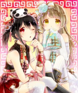 Rating: Safe Score: 37 Tags: love_live! minami_kotori poison916 thighhighs yazawa_nico User: OmegaZX