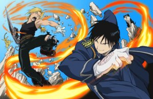 Rating: Safe Score: 9 Tags: black_hayate edward_elric fullmetal_alchemist male roy_mustang User: charunetra