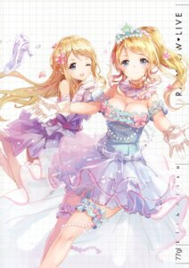 Rating: Safe Score: 83 Tags: 77gl ayase_arisa ayase_eli cleavage dress garter love_live! User: yong