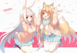 Rating: Safe Score: 27 Tags: animal_ears bunny_ears cynthia_riddle kitsune milia_leclerc p19 practice seifuku sweater tail thighhighs User: Radioactive