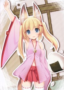 Rating: Safe Score: 26 Tags: animal_ears japanese_clothes karomix karory kitsune tail thighhighs User: kiyoe