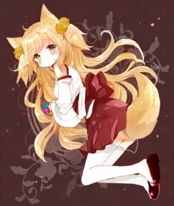 Rating: Safe Score: 12 Tags: animal_ears ass kitsune miko tail thighhighs tsukiyo_(skymint) User: KazukiNanako
