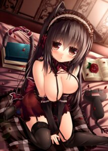 Rating: Questionable Score: 127 Tags: animal_ears cleavage mia_flatpaddy nekomimi stockings syroh tail thighhighs User: 椎名深夏