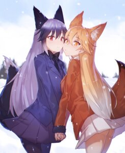 Rating: Safe Score: 53 Tags: animal_ears ezo_red_fox kemono_friends notsugimi pantyhose silver_fox tail User: Mr_GT