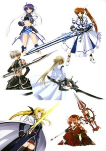 Rating: Safe Score: 9 Tags: armor cypha_of_huckebein dress eyepatch fate_testarossa gothic_lolita higa_yukari lolita_fashion mahou_senki_lyrical_nanoha_force mahou_shoujo_lyrical_nanoha subaru_nakajima sword takamachi_nanoha thighhighs tohma_avenir uniform vita weapon User: Radioactive