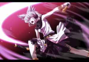 Rating: Safe Score: 13 Tags: headphones isa sword touhou toyosatomimi_no_miko User: fairyren