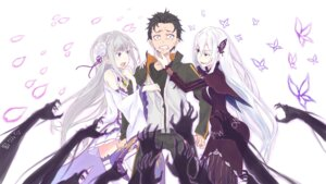 Rating: Safe Score: 42 Tags: dress echidna_(re_zero) emilia_(re_zero) natsuki_subaru pointy_ears re_zero_kara_hajimeru_isekai_seikatsu thighhighs User: kiyoe