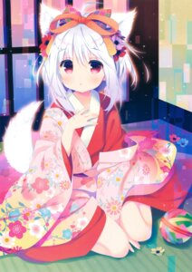 Rating: Safe Score: 157 Tags: animal_ears kimono santa_matsuri tail User: Twinsenzw