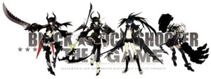 Rating: Safe Score: 35 Tags: black_gold_saw black_rock_shooter black_rock_shooter_(character) dead_master horns starshadowmagician strength sword tail thighhighs vocaloid User: Radioactive