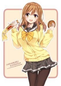 Rating: Safe Score: 30 Tags: fue kunikida_hanamaru love_live!_sunshine!! pantyhose seifuku sweater User: Mr_GT
