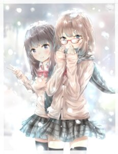 Rating: Safe Score: 31 Tags: megane seifuku sweater tagme thighhighs User: saemonnokami