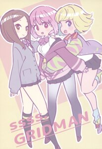 Rating: Safe Score: 9 Tags: miyazaki_shiori pantyhose seifuku shinjou_akane ssss.gridman sweater tagme yotoco User: tanda