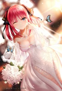 Rating: Safe Score: 175 Tags: 5-toubun_no_hanayome cleavage dress junpaku_karen nakano_nino see_through wedding_dress User: BattlequeenYume