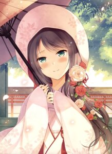 Rating: Safe Score: 48 Tags: japanese_clothes komi_zumiko umbrella User: drop