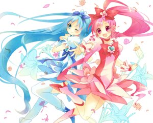 Rating: Safe Score: 12 Tags: hanasaki_tsubomi heartcatch_pretty_cure! kurumi_erika pretty_cure thighhighs wallpaper yamiya User: Radioactive