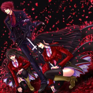 Rating: Safe Score: 7 Tags: belphegor kaoru lucifer thighhighs umineko_no_naku_koro_ni ushiromiya_battler User: Velen
