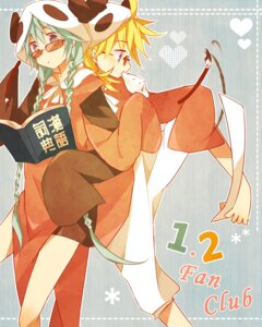 Rating: Safe Score: 9 Tags: 1-2_fanclub_(vocaloid) chinadress feng_hu hatsune_miku kagamine_len megane vocaloid User: 23yAyuMe