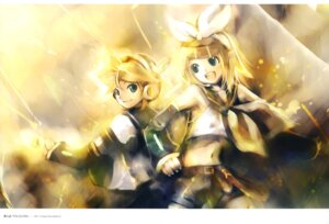 Rating: Safe Score: 10 Tags: kagamine_len kagamine_rin kei vocaloid User: fireattack