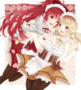 Rating: Safe Score: 24 Tags: mora puella_magi_madoka_magica sakura_kyouko thighhighs tomoe_mami waitress User: animeprincess