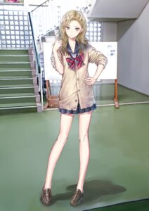 Rating: Safe Score: 44 Tags: blue_reflection kishida_mel mitsui_kaori seifuku sweater User: NotRadioactiveHonest