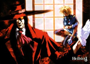 Rating: Safe Score: 5 Tags: alucard blood hellsing seras_victoria thighhighs User: Radioactive