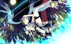 Rating: Safe Score: 21 Tags: chibiibiru hatsune_miku mecha_musume thighhighs vocaloid User: eridani