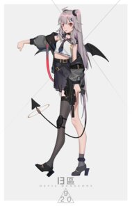 Rating: Safe Score: 20 Tags: heels tail thighhighs weapon wings xtears_kitsune User: Dreista