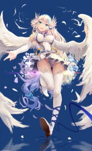 Rating: Questionable Score: 62 Tags: angel erect_nipples tagme_artist_translation thighhighs wings 木蔭の下 User: Zenex