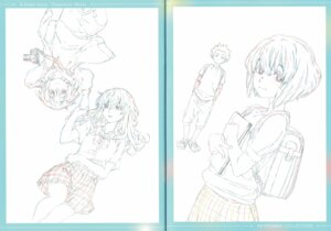Rating: Safe Score: 3 Tags: crease fixme koe_no_katachi line_art raw_scan seifuku User: yswysc