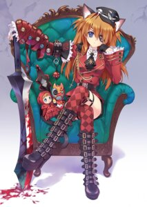 Rating: Safe Score: 56 Tags: animal_ears blood carnelian eyepatch garter nekomimi neon_genesis_evangelion souryuu_asuka_langley stockings sword tail thighhighs User: 椎名深夏