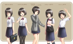 Rating: Safe Score: 24 Tags: character_design megane pantyhose sarekoube seifuku sweater User: hamasen205