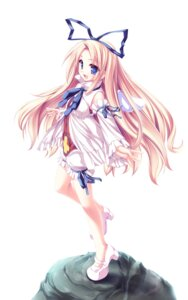 Rating: Safe Score: 62 Tags: bloomers disgaea flonne heels tenmaso wings User: blooregardo