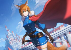 Rating: Safe Score: 19 Tags: animal_ears sion_(9117) sword tail thighhighs uniform User: Dreista