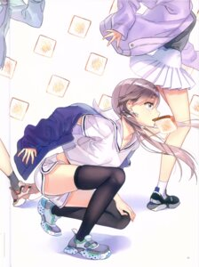 Rating: Questionable Score: 34 Tags: ancotaku seifuku sentiment_color thighhighs User: Radioactive