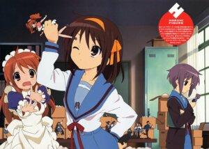 Rating: Safe Score: 16 Tags: asahina_mikuru horiguchi_yukiko maid nagato_yuki seifuku suzumiya_haruhi suzumiya_haruhi_no_yuuutsu User: vita