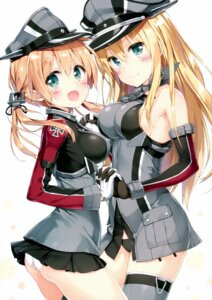 Rating: Questionable Score: 89 Tags: ass bismarck_(kancolle) kantai_collection pantsu peco prinz_eugen_(kancolle) thighhighs User: Mr_GT