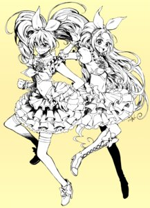 Rating: Safe Score: 11 Tags: heels houjou_hibiki minamino_kanade monochrome pretty_cure ringo78 suite_pretty_cure thighhighs User: blooregardo