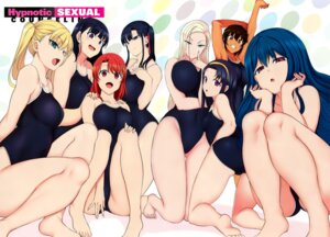 Rating: Questionable Score: 46 Tags: 50on! aiue_oka breast_hold school_swimsuit swimsuits tagme User: kiyoe