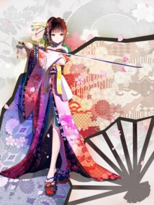 Rating: Safe Score: 15 Tags: kimono red_flowers sword User: charunetra