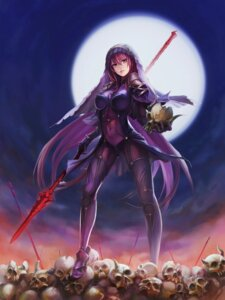 Rating: Safe Score: 77 Tags: armor bodysuit erect_nipples fate/grand_order scathach_(fate/grand_order) ushas weapon User: Mr_GT