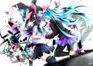 Rating: Safe Score: 14 Tags: hatsune_miku thighhighs tyouya vocaloid User: eridani