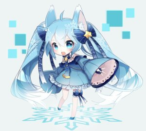 Rating: Safe Score: 61 Tags: animal_ears chibi chuuko_anpu garter hatsune_miku vocaloid yuki_miku User: Mr_GT