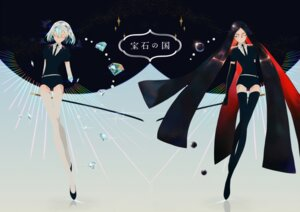 Rating: Safe Score: 8 Tags: houseki_no_kuni sword tagme thighhighs User: Radioactive