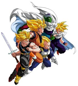 Rating: Safe Score: 6 Tags: dragon_ball dragon_ball_z male piccolo son_gohan son_goku sword tagme trunks vegeta User: Radioactive