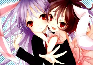 Rating: Safe Score: 28 Tags: animal_ears bunny_ears color_issue gap inaba_tewi matsuda_shima reisen_udongein_inaba stripe2 touhou User: Radioactive