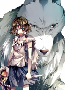 Rating: Safe Score: 13 Tags: blood mononoke_hime san tsukioka_tsukiho User: charunetra