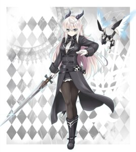 Rating: Safe Score: 30 Tags: horns mecha miyukirei pointy_ears sword User: fairyren