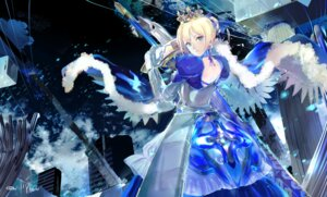 Rating: Safe Score: 20 Tags: 119 armor dress fate/grand_order fate/stay_night saber signed sword User: charunetra