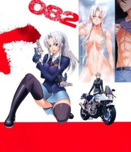 Rating: Questionable Score: 19 Tags: gun inazuma naked pantsu screening seifuku thighhighs towel triage_x User: kiyoe